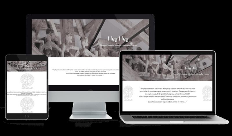 illustration site web responsive